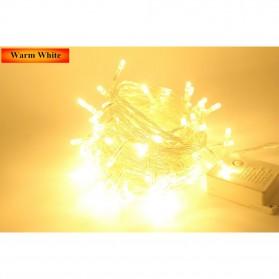 Lampu Hias String 100 LED 220V 10 Meters EU Plug - Warm White