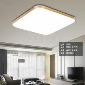 Lampu LED Plafon Super Slim 48W 65x43cm - White/Gold