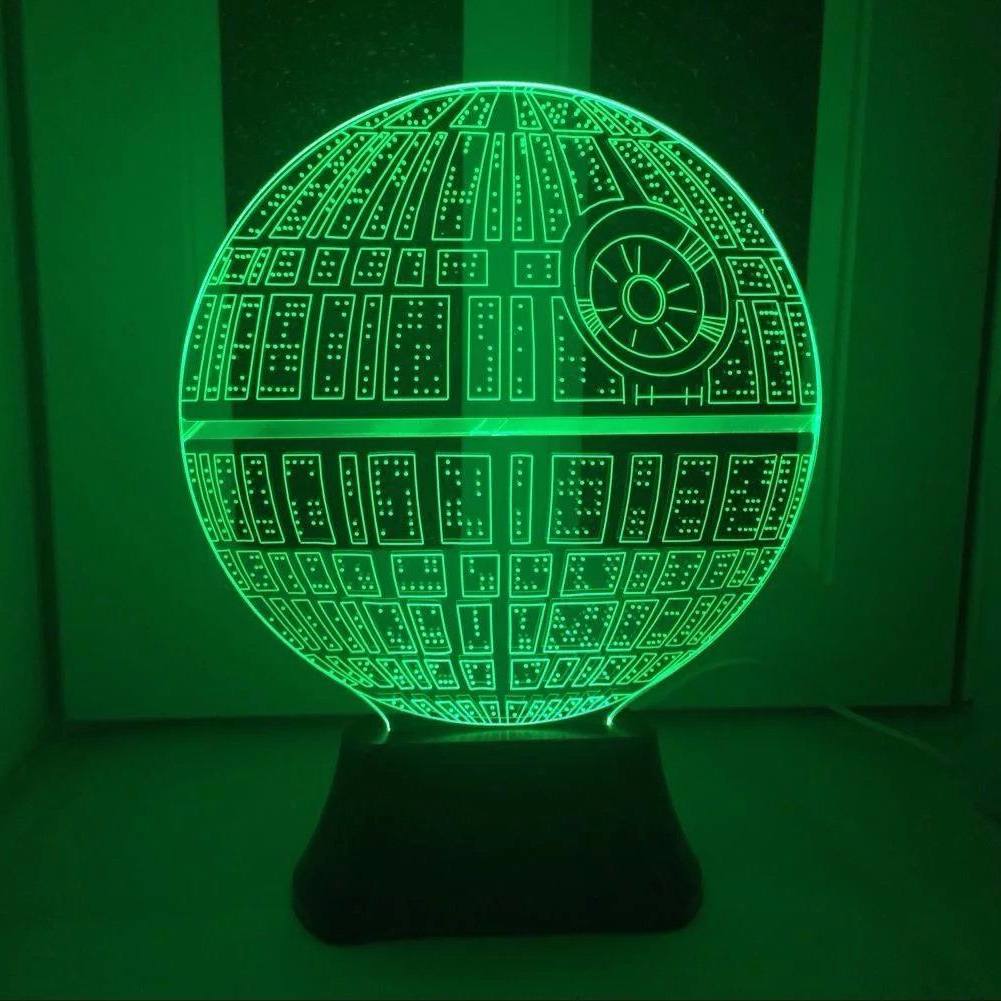 ... Lampu 3D LED Transparan 7 Color Design Star Wars Ball - Multi-Color - 1 ...