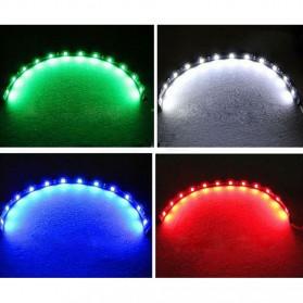 LED Strip Lampu Depan Mobil Waterproof 5W 15SMD 3528 30CM - 2 Strip - Blue