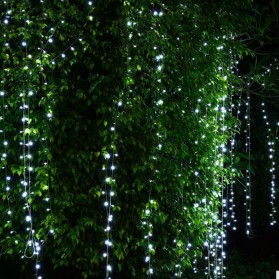 TaffLED Lampu Gorden Dekorasi Wedding Fairy Light 3x3Meter 300 LED - 300L - White - 3