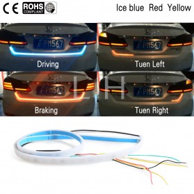 LED Strip Lampu Mobil Driving Signal Break Left Right Turn 120CM - 5050 - Blue/Red