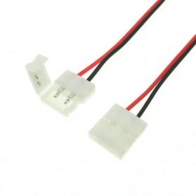 Konektor Lampu LED Strip Welding 5050 2 Pin 10mm - White - 2