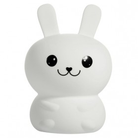 Lampu Tidur LED Silicone Lamp model Rabbit - White