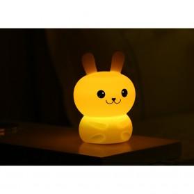 Lampu Tidur LED Silicone Lamp model Rabbit - White - 2