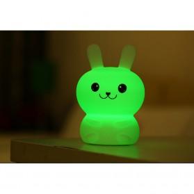 Lampu Tidur LED Silicone Lamp model Rabbit - White - 3