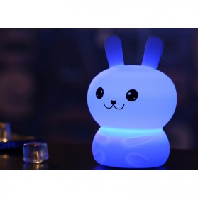 Lampu Tidur LED Silicone Lamp model Rabbit - White - 4