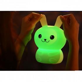 Lampu Tidur LED Silicone Lamp model Rabbit - White - 5