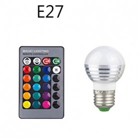 TaffLED Lampu Bohlam LED RGB 3W 16 Colors E27 + Remote Control - 2835