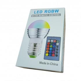 TaffLED Lampu Bohlam LED RGB 3W 16 Colors E27 + Remote Control - 2835 - 8