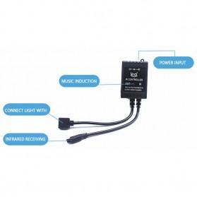 Sensor Suara Sound Music Control Lampu LED Strip dengan Remote Control - Black - 2