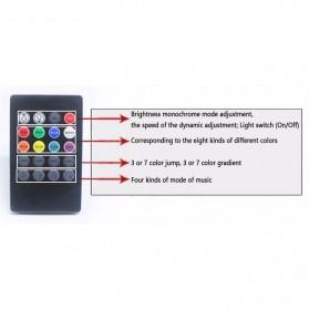 Sensor Suara Sound Music Control Lampu LED Strip dengan Remote Control - Black - 3