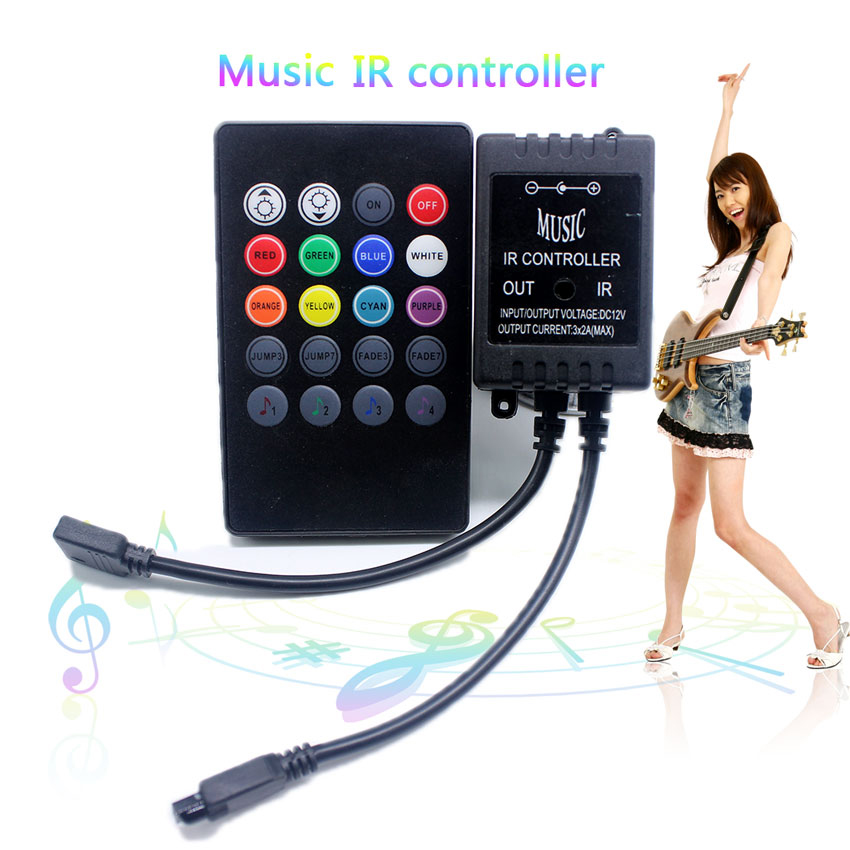 Sensor Suara Sound Music Control Lampu Led Strip Dengan Remote