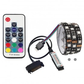 Lampu LED Strip RGB SATA For PC Computer with Remote Control - 200CM - Multi-Color
