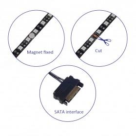 Lampu LED Strip RGB SATA For PC Computer with Remote Control - 200CM - Multi-Color - 4