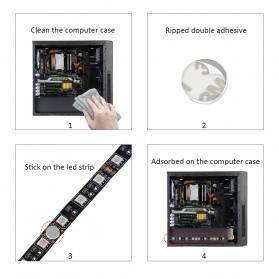 Lampu LED Strip RGB SATA For PC Computer with Remote Control - 200CM - Multi-Color - 5