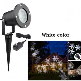 Lampu Proyektor Snowflake Taman Outdoor - Black