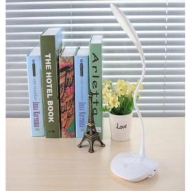 Lampu Meja Belajar 20 LED Model Fleksibel - White