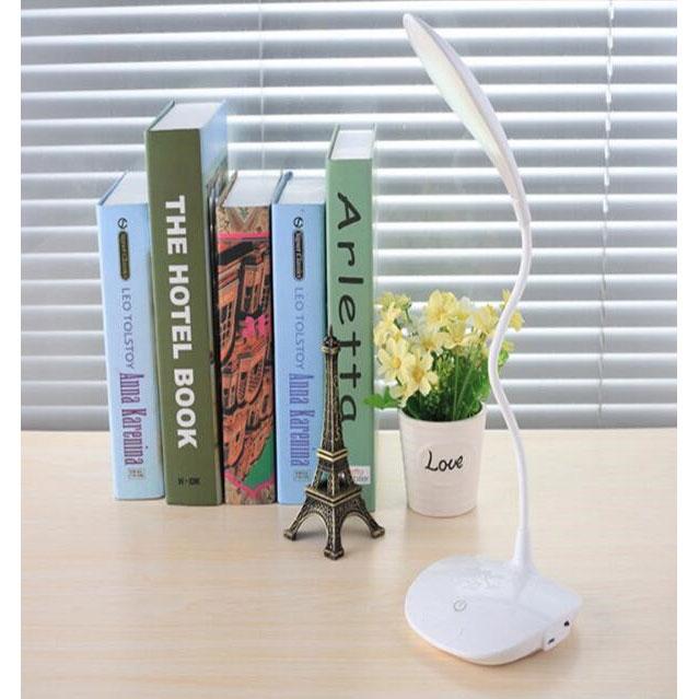 Lampu Meja Belajar 20 Led Model Fleksibel White