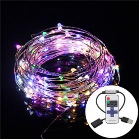 Lampu Hias Dekorasi USB Powered 50 LED 5 Meter with Remote Control - Multi-Color