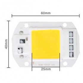 Chip Lampu COB LED Floodlight Spotlight 220V 50W - Warm White - White