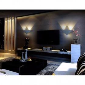 TaffLED Lampu Hias Dinding LED Modern Triangle Aluminium 3W - ABD-3W-SJX - Warm White - 8