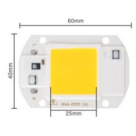 Chip Lampu COB LED Floodlight Spotlight 220V 20W - Cool White - White