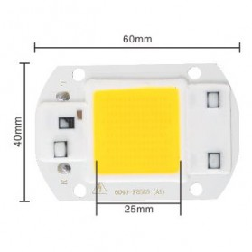 Chip Lampu COB LED Floodlight Spotlight 220V 30W - Cool White - White