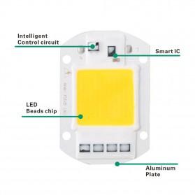 Chip Lampu COB LED Floodlight Spotlight 220V 30W - Cool White - White - 2