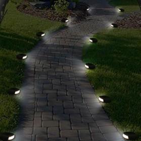 SOLLED Lampu Hias Taman LED Solar Lamp Path Light Fake Stone - GA-002 - Gray - 6
