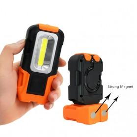 TaffLED Senter Camping Lampu LED Portable Gantung  + Magnet COB 200 Lumens 5000K - CB601 - Orange - 2