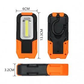 TaffLED Senter Camping Lampu LED Portable Gantung  + Magnet COB 200 Lumens 5000K - CB601 - Orange - 4