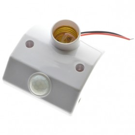 Mayitr Fitting Lampu Bohlam Socket E27 dengan Infrared Motion Sensor 60W - PIR-E27DZ-FX - White - 2