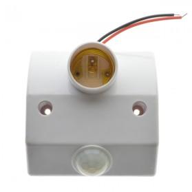 Mayitr Fitting Lampu Bohlam Socket E27 dengan Infrared Motion Sensor 60W - PIR-E27DZ-FX - White - 3