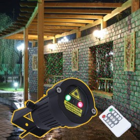 Lampu Proyektor Taman Outdoor Starry Effect with Remote Control - Black