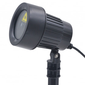 Lampu Laser Proyektor Taman Outdoor Twinkle Effect with Remote Control - KD-IP44 - Black - 10