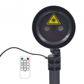 Lampu Laser Proyektor Taman Outdoor Twinkle Effect with Remote Control - KD-IP44 - Black - 11
