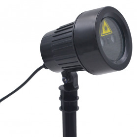 Lampu Laser Proyektor Taman Outdoor Twinkle Effect with Remote Control - KD-IP44 - Black - 12