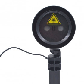 Lampu Laser Proyektor Taman Outdoor Twinkle Effect with Remote Control - KD-IP44 - Black - 13