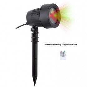 Lampu Laser Proyektor Taman Outdoor Twinkle Effect with Remote Control - KD-IP44 - Black