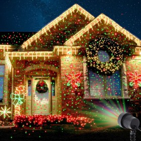Lampu Laser Proyektor Taman Outdoor Twinkle Effect with Remote Control - KD-IP44 - Black - 2