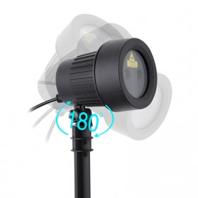 Lampu Laser Proyektor Taman Outdoor Twinkle Effect with Remote Control - KD-IP44 - Black - 7