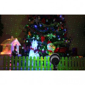 Lampu Laser Proyektor Taman Outdoor Twinkle Effect with Remote Control - KD-IP44 - Black - 8
