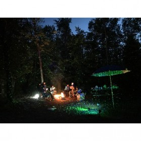 Lampu Laser Proyektor Taman Outdoor Twinkle Effect with Remote Control - KD-IP44 - Black - 9