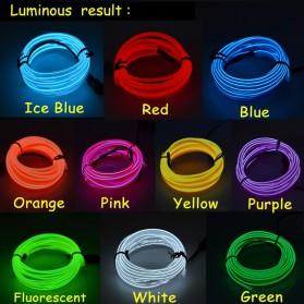 Lampu Dekorasi Mobil Motor LED Neon 2.3mm 3 Meter - HGAA677I - Blue - 5