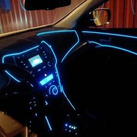 Lampu Dekorasi Mobil Motor LED Neon 2.3mm 3 Meter - HGAA677I - Blue - 7