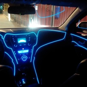 Lampu Dekorasi Mobil Motor LED Neon 2.3mm 3 Meter - HGAA677I - Blue - 8