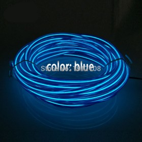 Lampu Dekorasi Mobil Motor LED Neon 5.0mm 3 Meter - Blue - 2