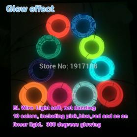 Lampu Dekorasi Mobil Motor LED Neon 5.0mm 3 Meter - Blue - 4