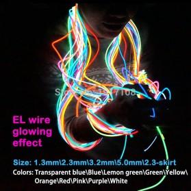 Lampu Dekorasi Mobil Motor LED Neon 5.0mm 3 Meter - Blue - 5
